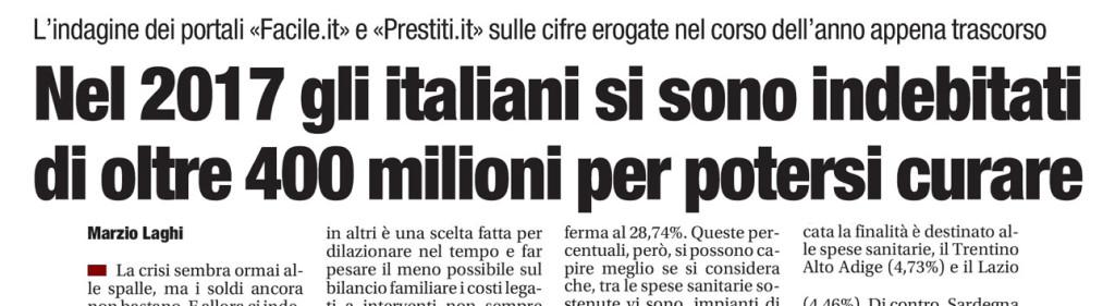 Malattia e business in Italia