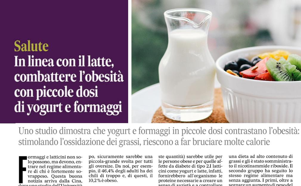 Latte e latticini non fanno ingrassare