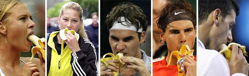 Dieta banana banane sport tennis