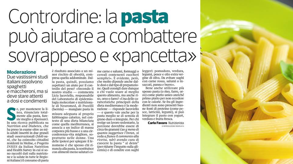 Mangiare pasta in pausa pranzo