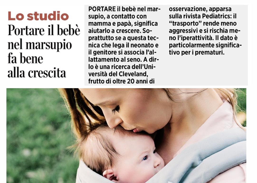 marsupio bimbo + allattamento al seno